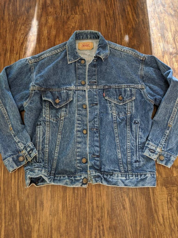 Levis Denim Jacket Made in USA 1990s Vintage