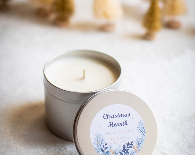 Christmas Hearth Soy Candle - 4 oz