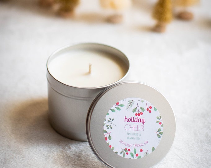 Holiday Cheer Soy Candle - 8 oz