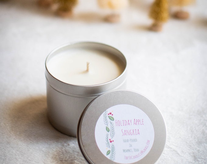 Holiday Apple Sangria Soy Candle - 16 oz