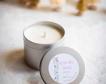 Holiday Apple Sangria Soy Candle - 4 oz