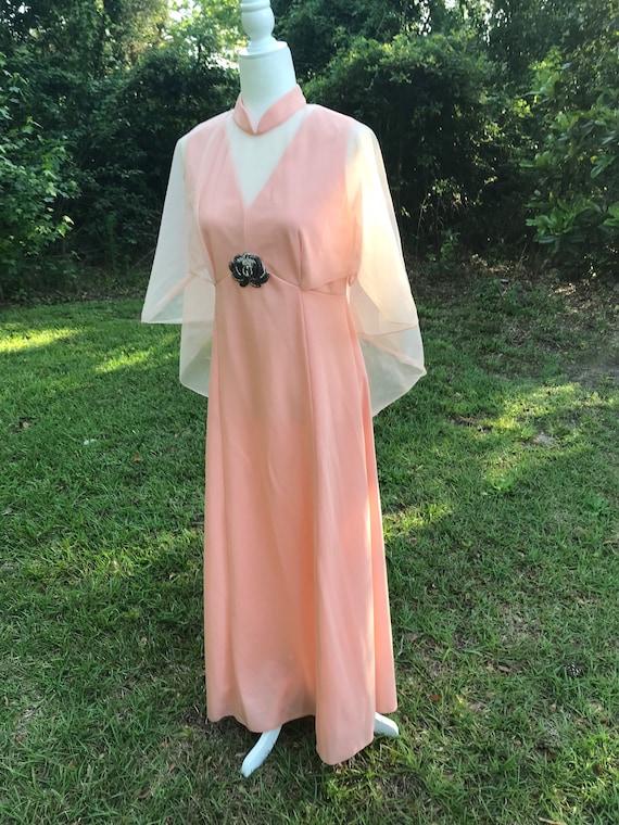 1970's Sylvia Ann Vintage Gown