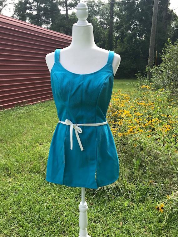 1960's Bathing Dress / w Bloomers