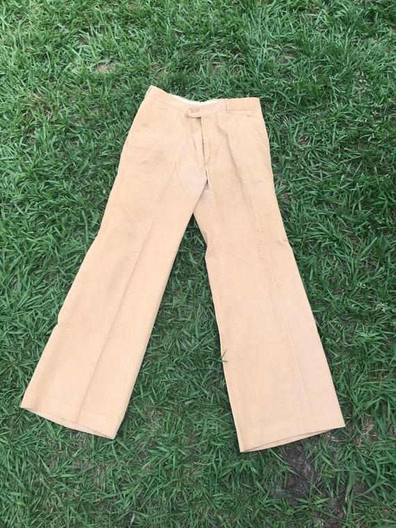 1970's LEVIS Panatela Tan Corduroy Flare Pants - image 4