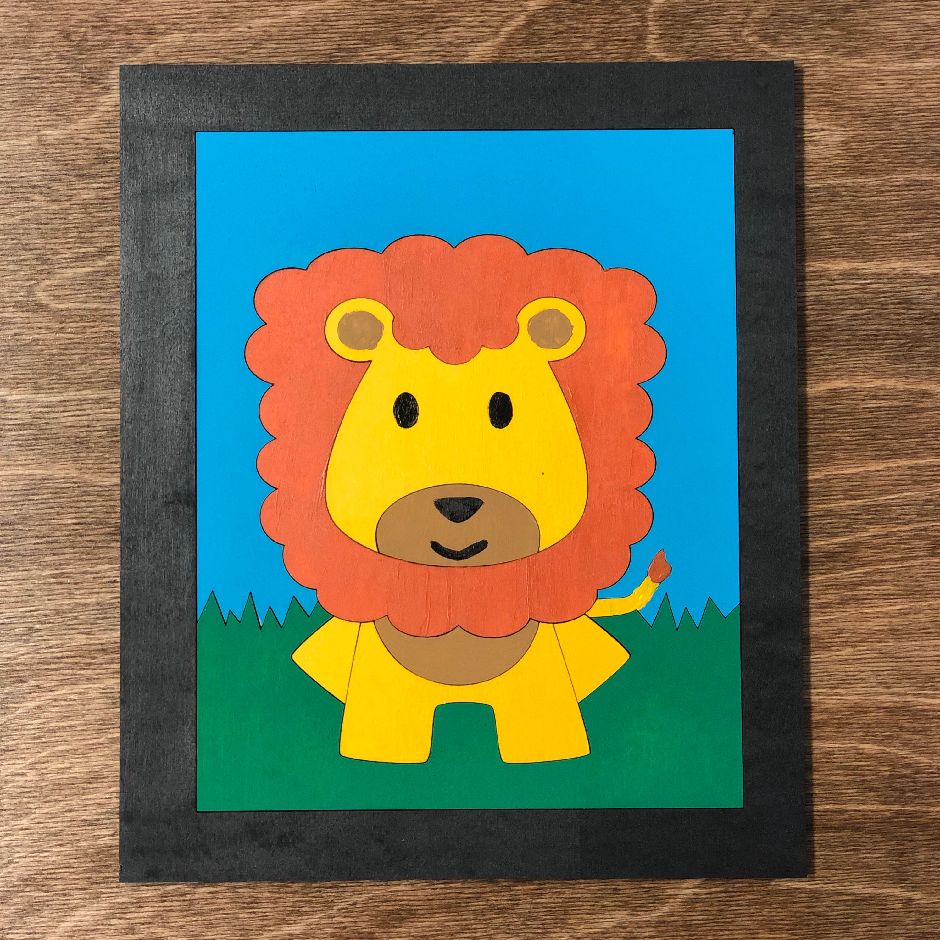 Lion Sign Cut File Baby Lion Svg Cut File Laser Cut File Etsy