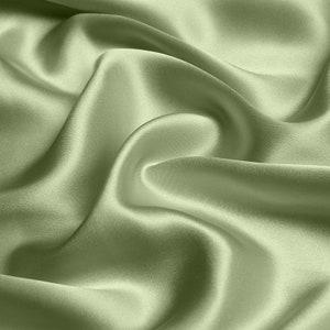 Silk satin Fabric Sage Green silk Supplies Fabric by yard Silk square bridal fabric Fat quarter silk materiral wholesale fabric by the yard