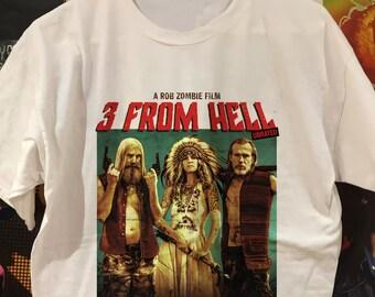 H2 A ROB ZOMBIE FILM Black Licensed T-Shirt