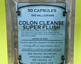 Colon Cleanse Super Flush- Sebi Capsules All Organic Zero Fillers or Binders