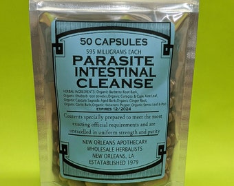 Parasite Intestinal Cleanse(Colon Cleanse Super Flush) All Organic Herbs Zero Fillers Or Binders