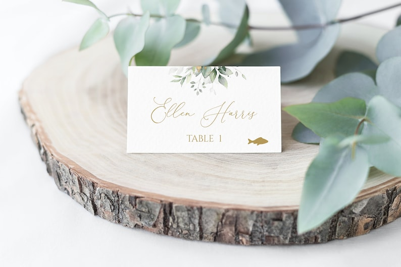 Place Card Template Meal Choice Wedding Place Card Template image 0