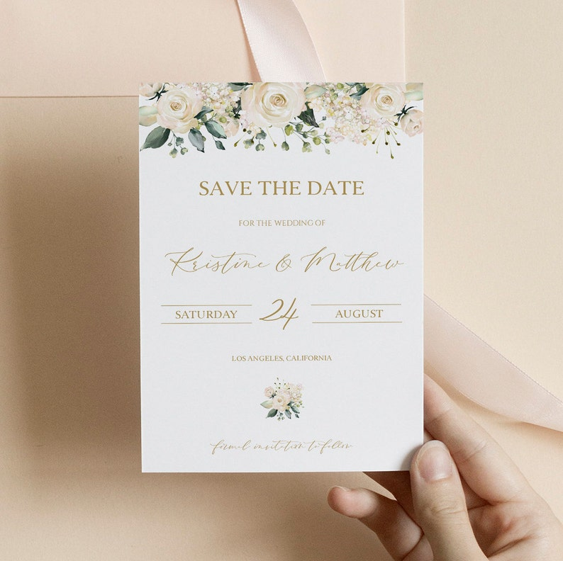 Wedding Save the Date Boho Floral Wedding Boho Save the Dates Cards and Magnets Floral Save the Date Template 0208/_012 Instant Download