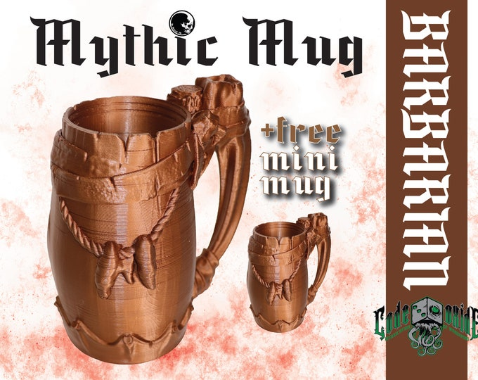 BARBARIAN- Mythic Mug Can System +MINI MUG
