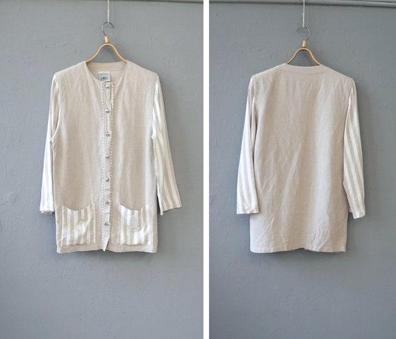 Vintage Linen Jacket Women Large Vintage Linen Jac