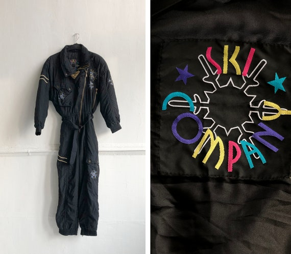 Vintage 80s Ski Suit One Piece Ski Suit Womens L S