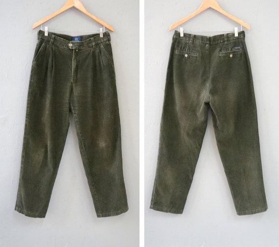 Vintage Corduroy Pants Khaki Corduroy Trousers W32