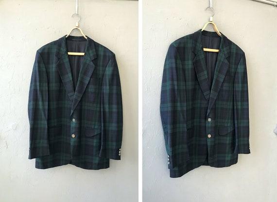 Vintage 90s Tartan Blazer Checked Blazer Mens XL P