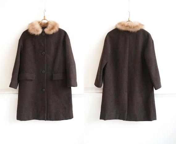 Vintage 90s Wool Coat Womens S M Wool Maxi Coat Br