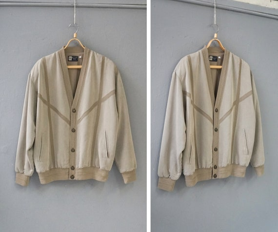 Vintage 90s Wool Bomber Jacket Mens Bomber Jacket