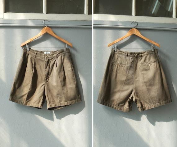 Vintage 90s Khaki Shorts Mens Bermuda Shorts W31 M