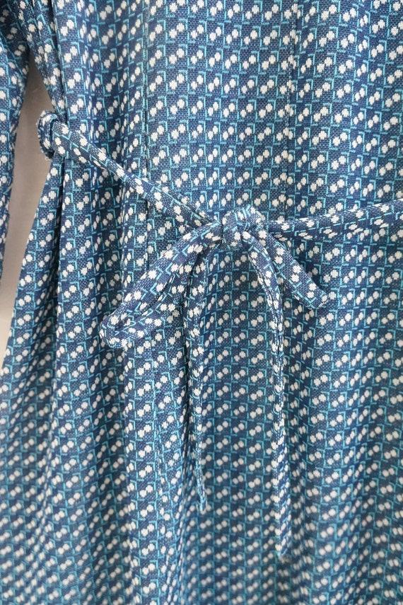 Vintage Plaid Blue Dress Womens Patterned Dress B… - image 8