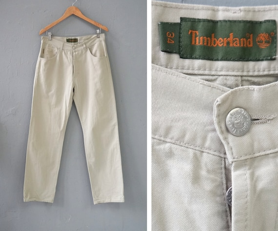 Vintage Timberland Pants Mens Pants 34 Light Green