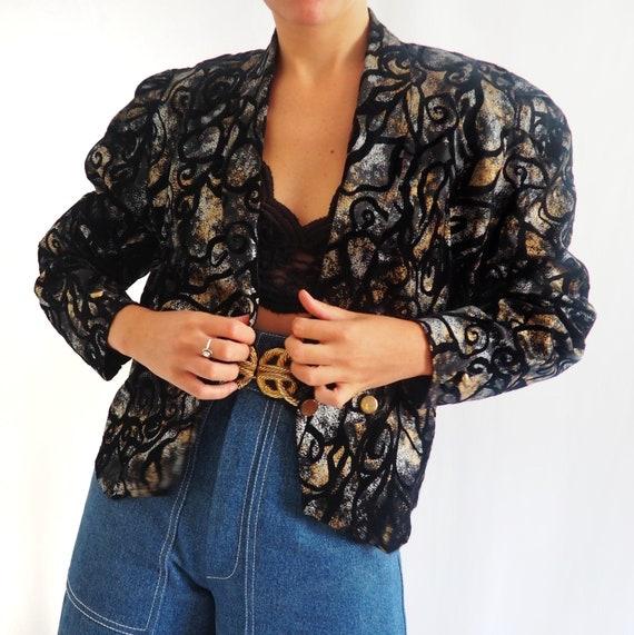 80s vintage velvet jacket