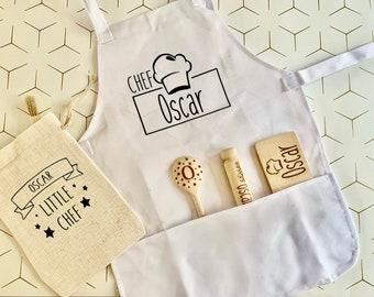 Personalised Kids Baking Set // Children's Kit // Apron // Bag //  Your Name