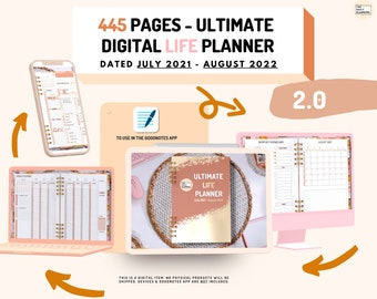 2.0 Ultimate LIFE Planner   DATED Digital Planner   Use in GoodNotes   Finances, Fitness, Health, Lifestyle, 58 Extra templates   90 Widgets