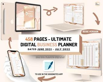 Ultimate Digital Dated BUSINESS Planner   To use in GoodNotes   Finances, Social Media, Extra templates   Sellers + Freelance + Client based