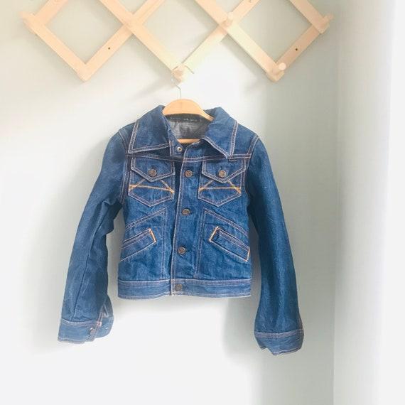 Kids vintage denim jean jacket, hipster kids, cott