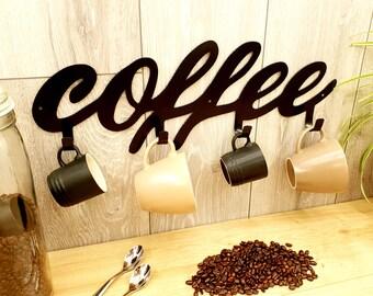 Coffee Mug Rack Coffee Cup Rack Coffee Cup Display   Coffee