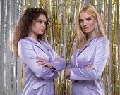 Blazer Dress, Mini Jacket Dress, Mini lilac dress, Lavender jacket dress, Sexy dress, Violet mini dress,Dresses, Lavender dress, DIVA RICCI