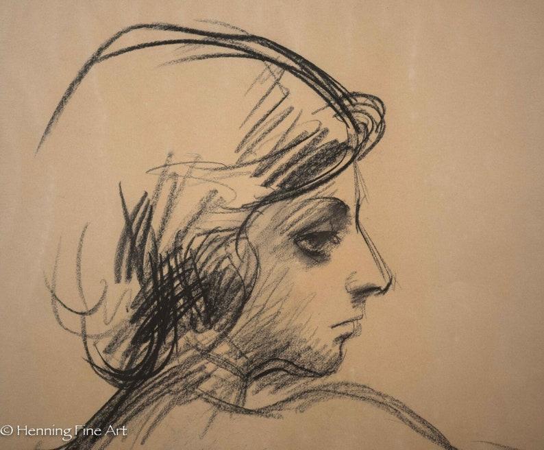 Georg Edmund Pielmann Original Pastel Drawing Female Portrait Inscribed /& Signed