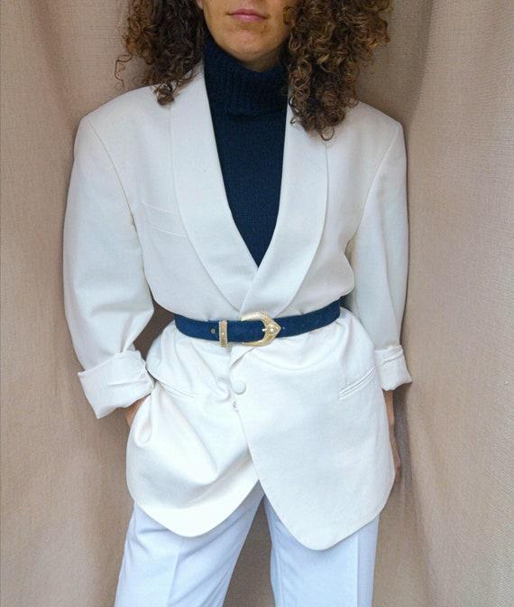 Vintage white tuxedo blazer