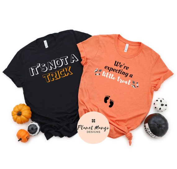 Halloween Pregnancy Announcement Shirt Trick Or Treat