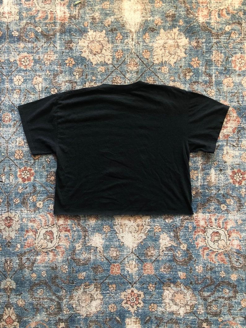 Baby Black Vintage Distressed Crop Top T-Shirt Notorious B.I.G