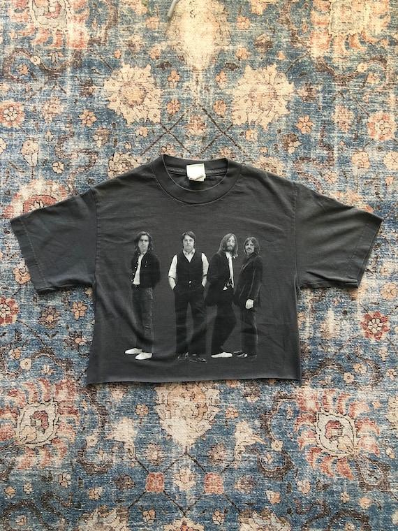 The Beatles 2005 Apple Tag Grey Vintage Distressed