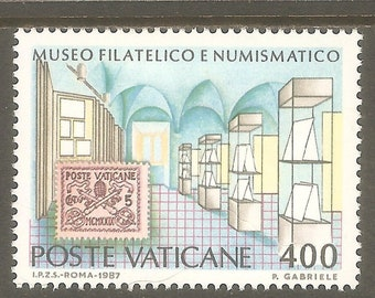 Vatican Philatelic and Numismatic Museum Set of 2 Postage Stamps Issued 1987 Mint Never Hinged