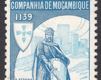 1940 King Alfonso Mozambique Company Postage Stamp Mint Never Hinged