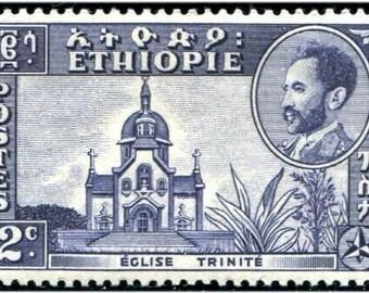 1951 Emperor Haile Selassie Ethiopia Postage Stamp Mint Never Hinged