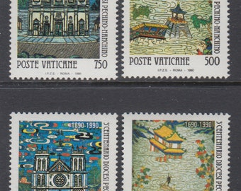 1990 Diocese of Beijing Nanking Set of 4 Vatican City Postage Stamps Mint Never Hinged