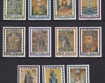 1974 Holy Year Set of 11 Vatican City Postage Stamps Mint Never Hinged