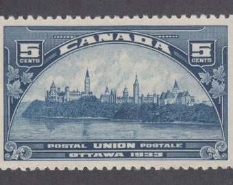 1933 Parliament Buildings Ottawa Canada Postage Stamp Mint Never Hinged