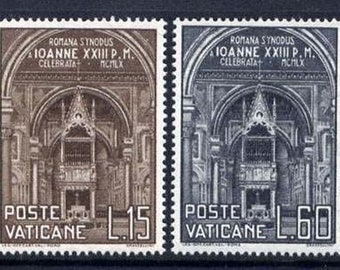 1960 Romana Synodus Set of 2 Vatican Postage Stamps Mint Never Hinged