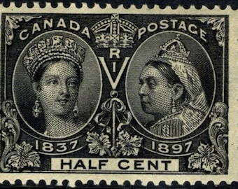1897 Queen Victoria Diamond Jubilee Canada Postage Stamp Mint Never Hinged