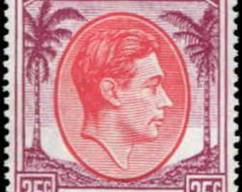 1952 King George VI Singapore 35c Postage Stamp Mint Never Hinged