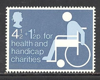 Health and Handicap Charities Great Britain Postage Stamp Issued 1975 Mint Never Hinged