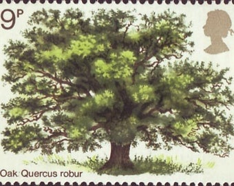 1973 Oak Tree Great Britain Postage Stamp Mint Never Hinged