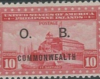 1938 Fort Santiago Philippines Official Stamp Mint Never Hinged