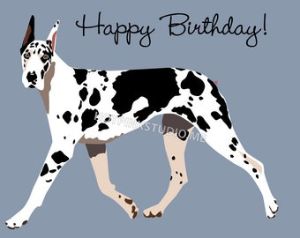 Great Dane Pin the Tail on the Dog Game for Birthday Party- INSTANT DOWNLOAD - printable digital jpeg files black and white dog